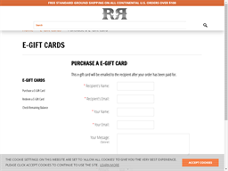 Rock Revival gift card purchase