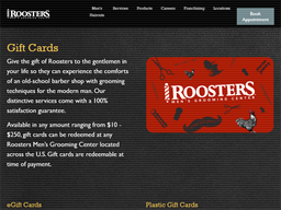 Roosters Men's Grooming Center gift card purchase