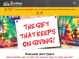 Roosters Wings gift card purchase
