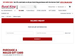 Rural King gift card balance check