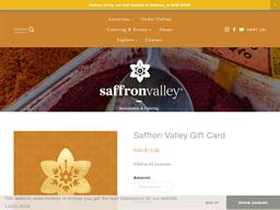 Saffron Valley gift card purchase