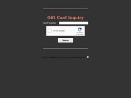 Sagebrush Steakhouse gift card balance check