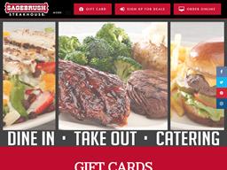 Sagebrush Steakhouse gift card purchase