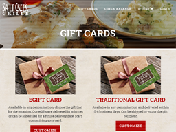 Salt Creek Grille gift card purchase