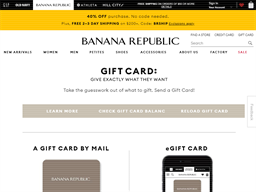 Banana Republic gift card balance check