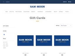 Sam Moon gift card purchase