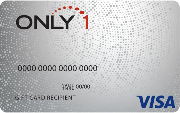 Only 1 Visa Prepaid gift card design and art work