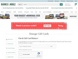 Barnes & Noble gift card balance check