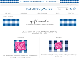 Bath & Body Works gift card balance check