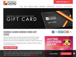 Seminole Casinos gift card purchase