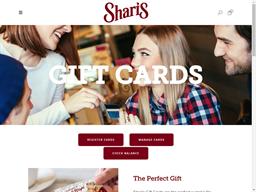 Shari's gift card purchase