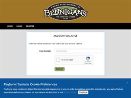 Bennigans gift card balance check