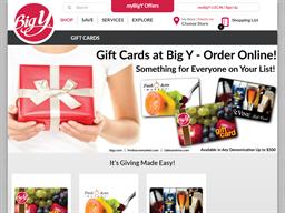 Big Y gift card purchase