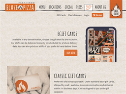 Blaze Pizza gift card purchase