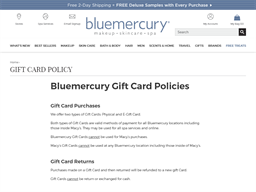 Bluemercury gift card purchase