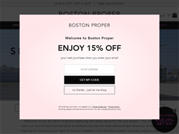 Boston Proper shopping