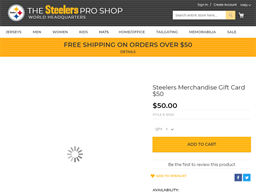 Steelers gift card purchase