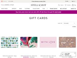 Stella & Dot gift card purchase