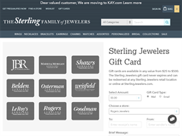 Sterling Jewelers gift card purchase