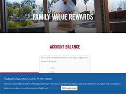 Stonefire Grill gift card balance check