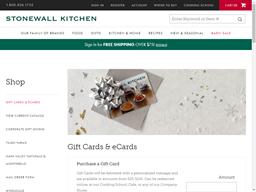 Stonewall Kitchen gift card balance check