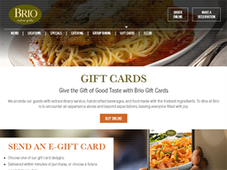 Brio Tuscan Grille gift card purchase