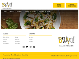 Bravo Cucina Italiano gift card purchase