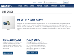Supercuts gift card purchase
