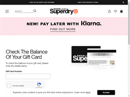 Superdry gift card purchase