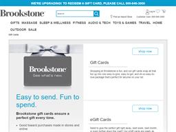 Brookstone gift card balance check