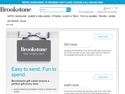 Brookstone gift card purchase
