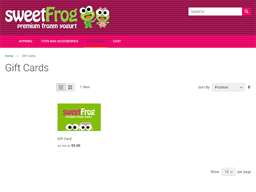 Sweet Frog gift card purchase