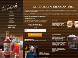 Tadich Grill gift card purchase