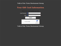 Talk of the Town Restaurant Group gift card balance check
