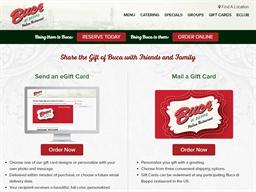 Buca Di Beppo gift card purchase