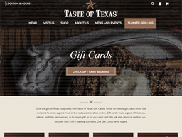 Taste of Texas gift card purchase