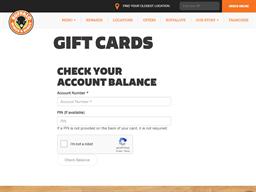Buffalo Wings & Rings gift card balance check