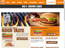 Burger King gift card purchase
