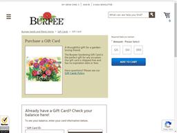 Burpee gift card balance check