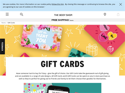 The Body Shop gift card purchase