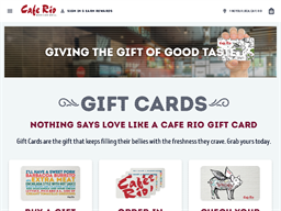 Cafe Rio gift card purchase