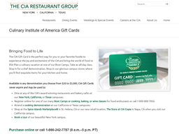 The Culinary Institute of America gift card purchase