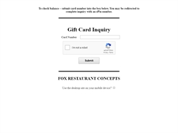 The Henry Restaurant gift card balance check