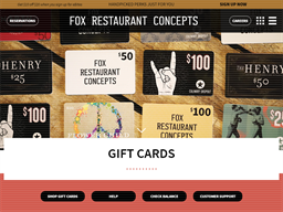 The Henry Restaurant gift card purchase
