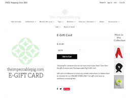 The Impeccable Pig gift card purchase