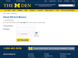 The M Den gift card purchase