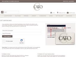 Cato gift card balance check