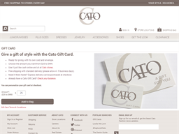Cato gift card purchase