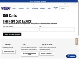 Champs Sports gift card balance check