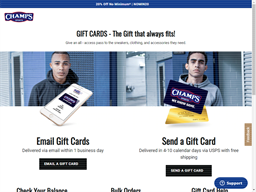 Champs Sports gift card purchase